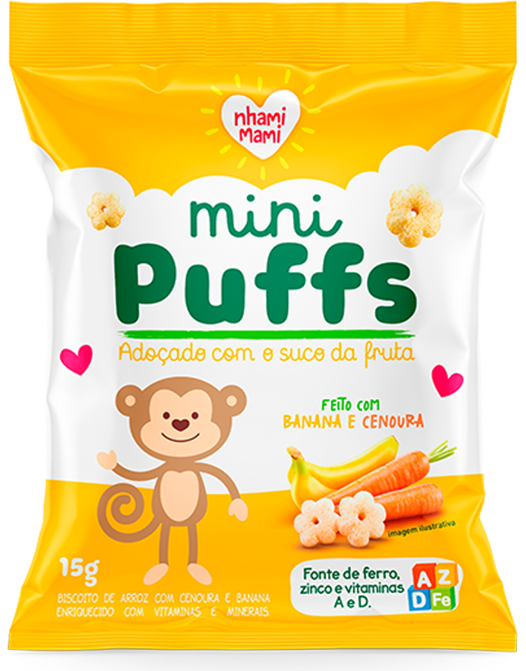 Mini Puff Banana e Cenoura